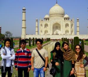 Members of APT visit the Taj Mahal in India.