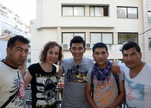 Marina with some of her Afghan students in Greece (Photos supplied by author)